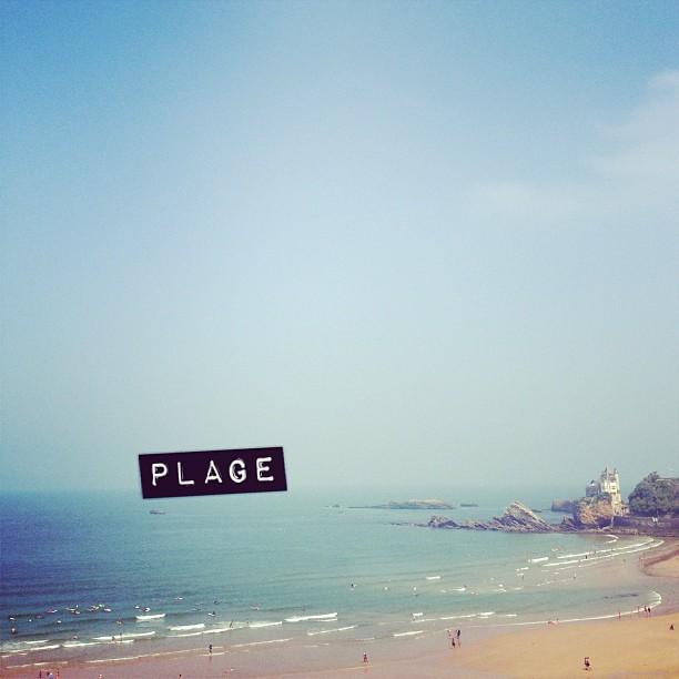 Coucou la plage ! #biarritz #roxypro #youpi #mer #plage