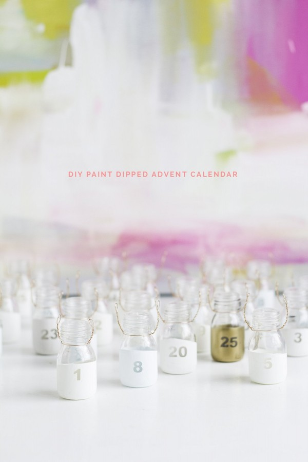 DIY-Paint-Dipped-Advent-Calendar-Bottles-Fall-For-DIY