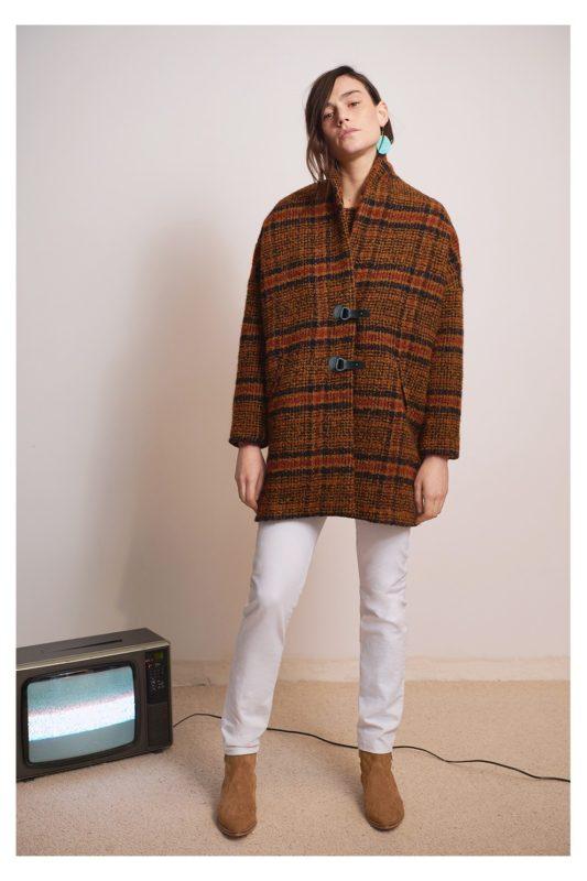 Manteau en lainage à carreaux Beder pour femme