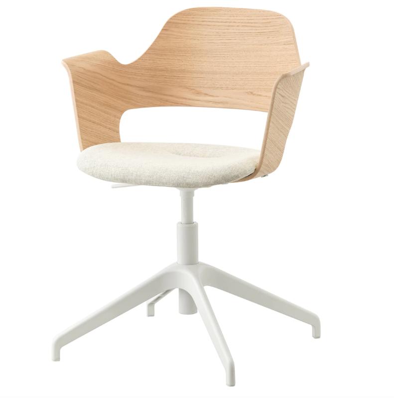 Chaise De Bureau Reglable A Roulettes En Textile Enduit Gris Cuesto Maisons Du Monde