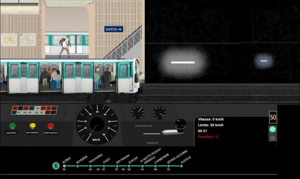 Simulateur de metro