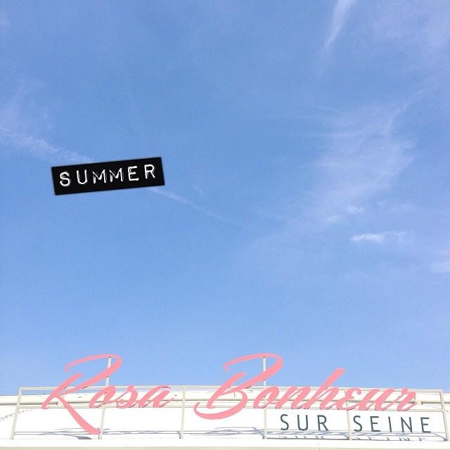 Chaleur, (Rosa) bonheur #summer #parisjetaime #paris #peniche #rosabonheur #youpi