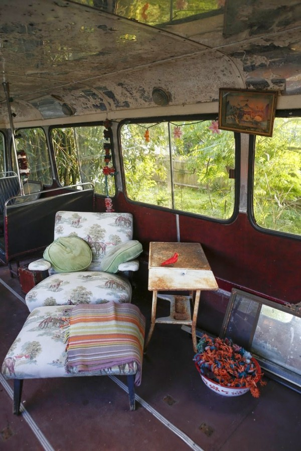 mirandas house bus couch