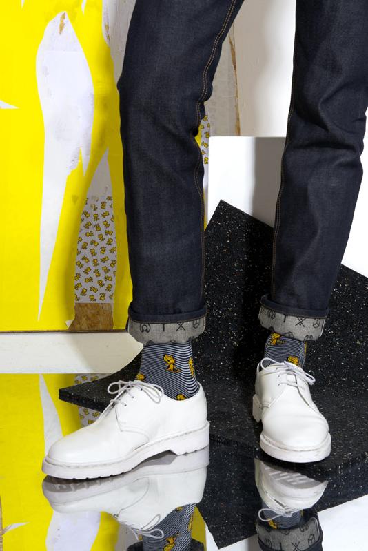 socks allover marine
