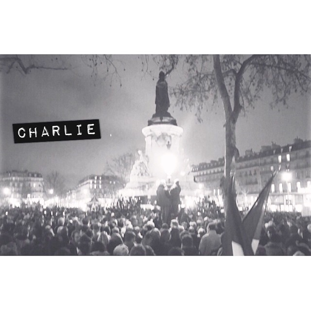 Je suis Charlie. Nous sommes tous Charlie. #jesuischarlie #libertedexpression #libertedelapresse