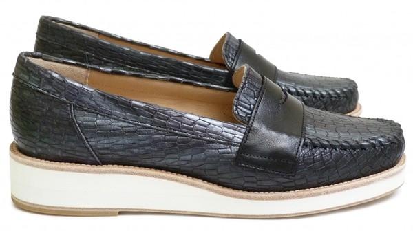 chaussure_femme_mocassin_printemps_ete_2015_maurice_manufacture_basso_cosmo_noir_argent_-_cuir_lisse_noir_0