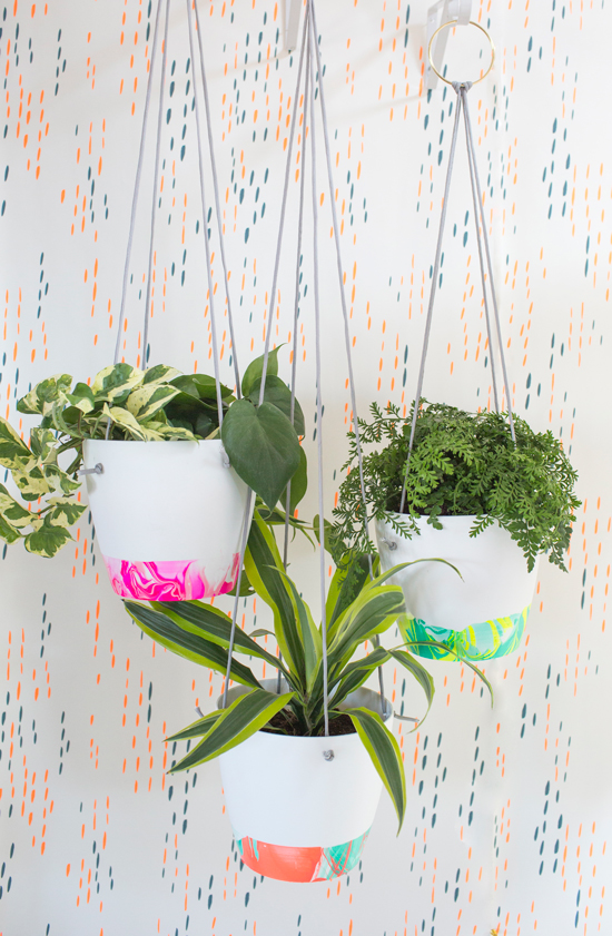 DIY pots suspendus