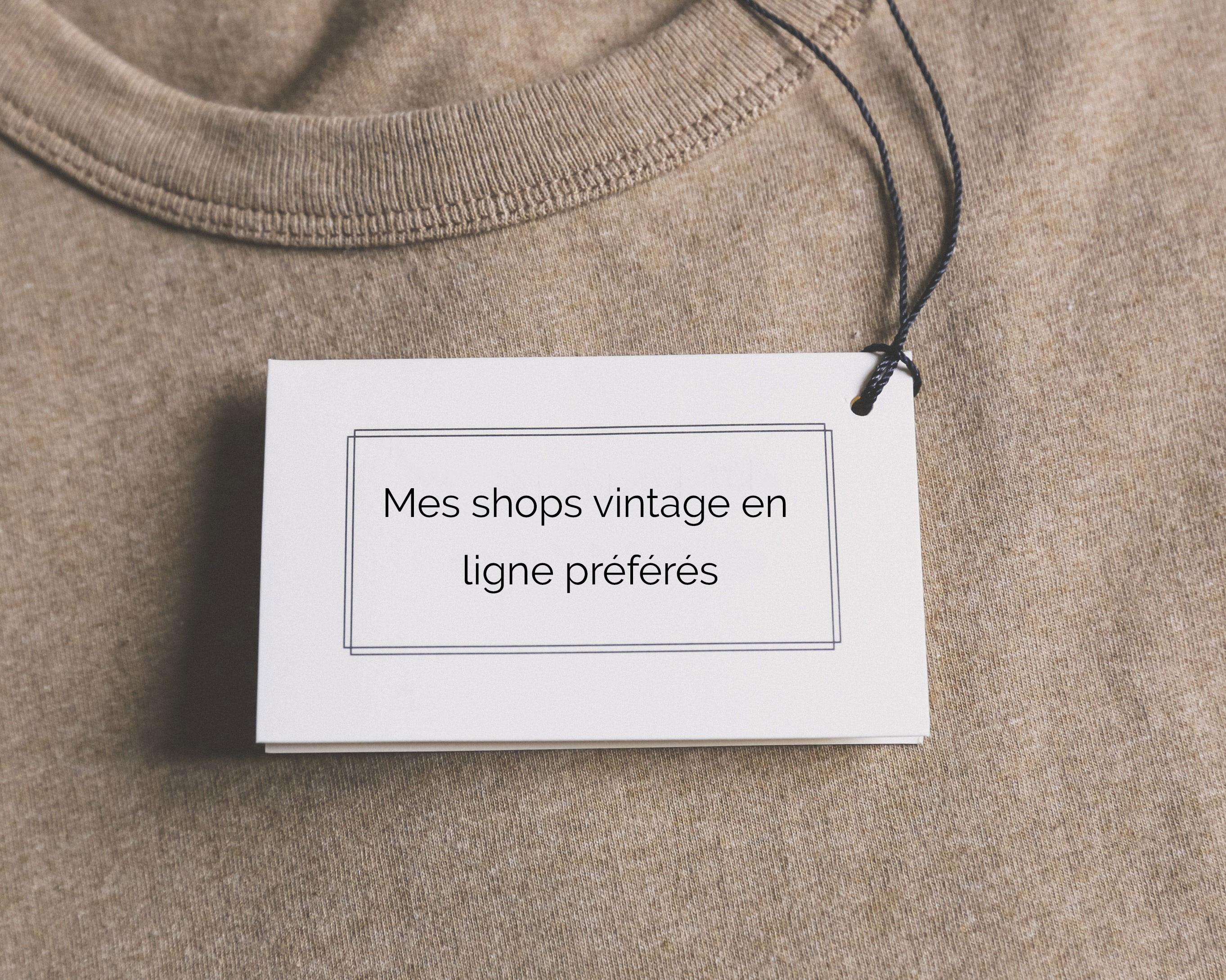 Mes shops vintage en ligne préférés